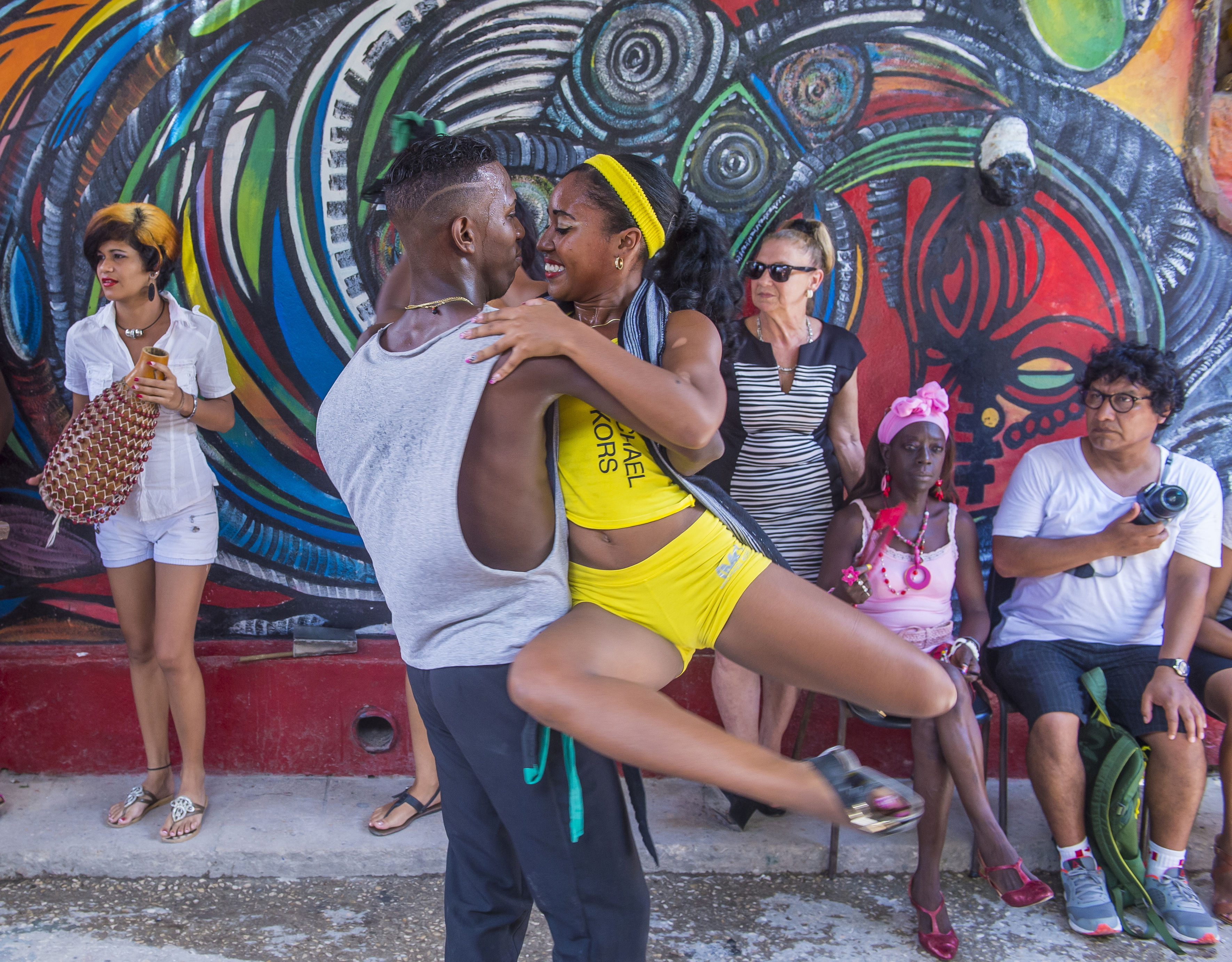 61025886 - havana, cuba - july 18 : rumba dancers in havana cuba on july 18 2016. rumba is a secular genre of cuban music involving dance, percussion, and song. it originated in the northern regions of cuba
