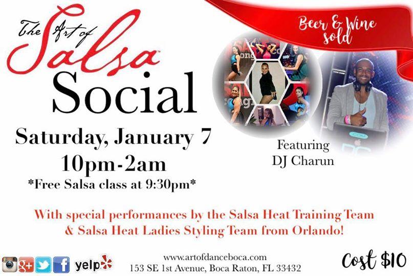 Art of Salsa Social - Jan 2017 - Salsa Classes in Tampa